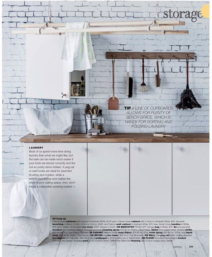 Rebel Walls Well Worn Brick Mural, Kitchen Setting, in Real Living Magazine.