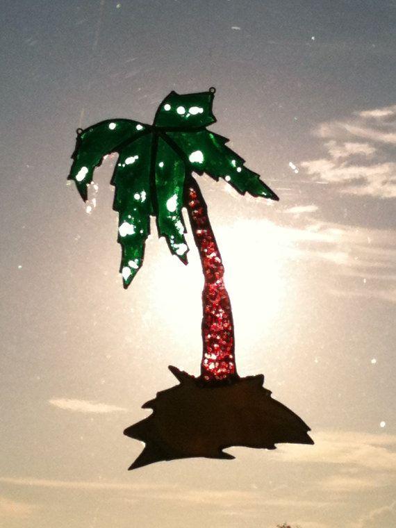 Colector de vidrio palmera sol Florida Tropical por haveyourwish3