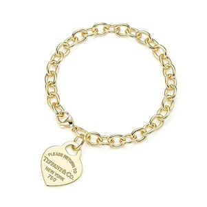 Return to Tiffany Heart Tag Gold Bracelet