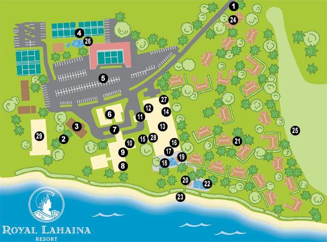 Royal Lahaina, Maui - Resort Map