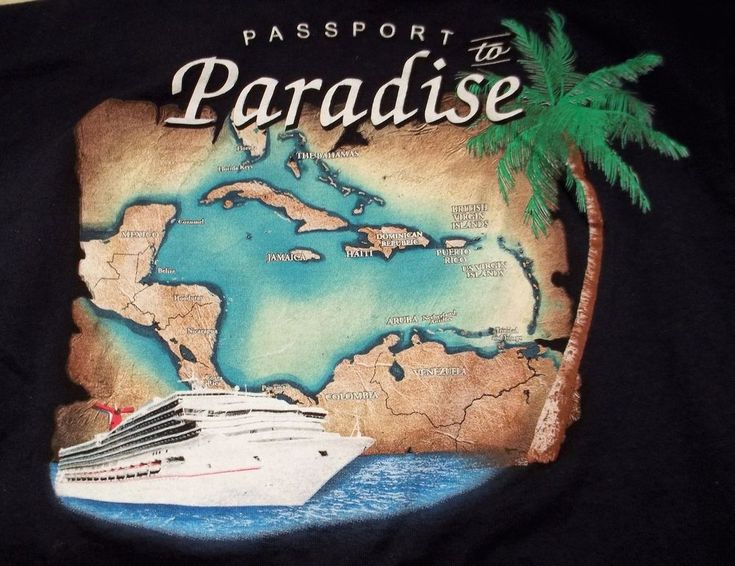 Carnival Cruise Line Triumph T Shirt Adult S Small Passport To Paradise