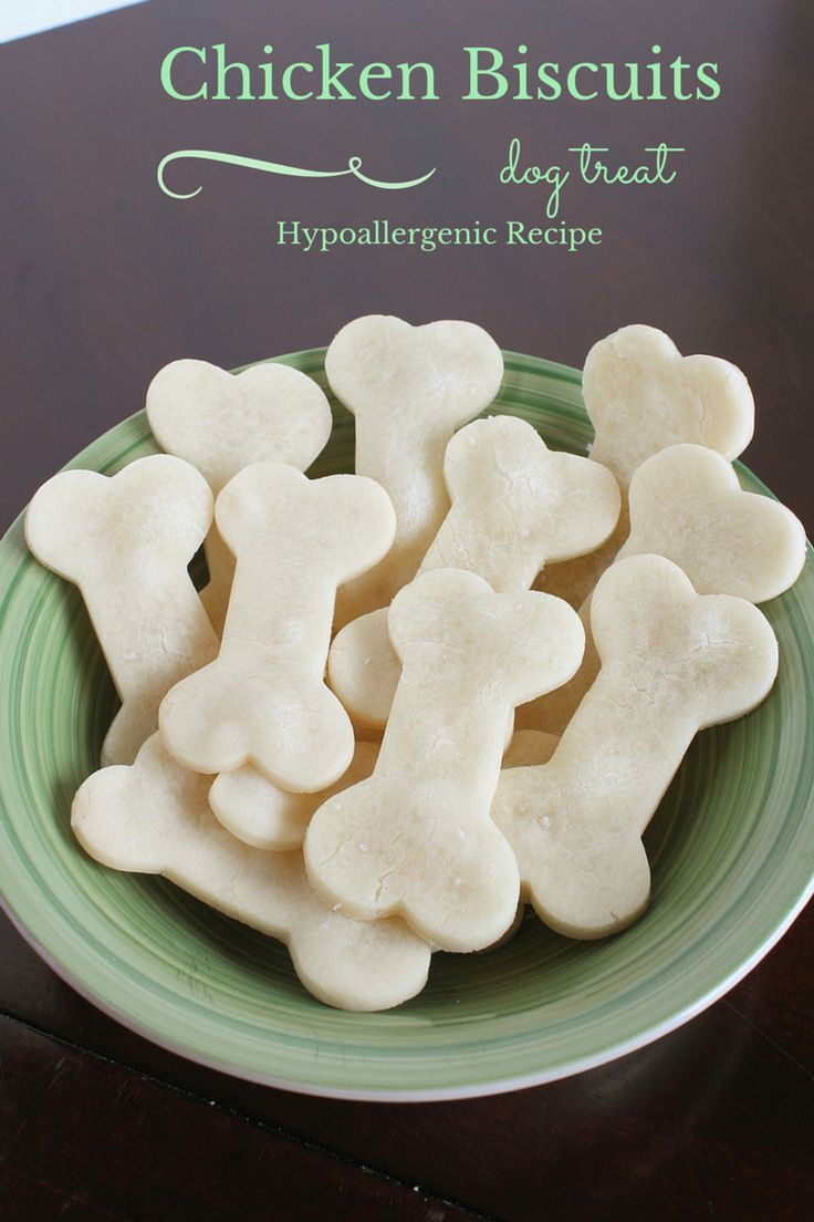 Chicken Biscuit Homemade Hypoallergenic Dog Treats Recipe