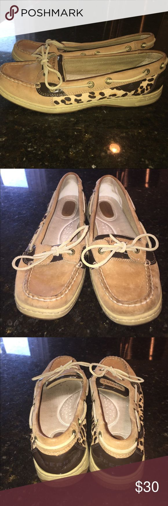 Leopard sperrys These leopard print Sperrys were only worn a couple of times. They are in very good shape. Sperry Top-Sider Shoes Flats & Loafers