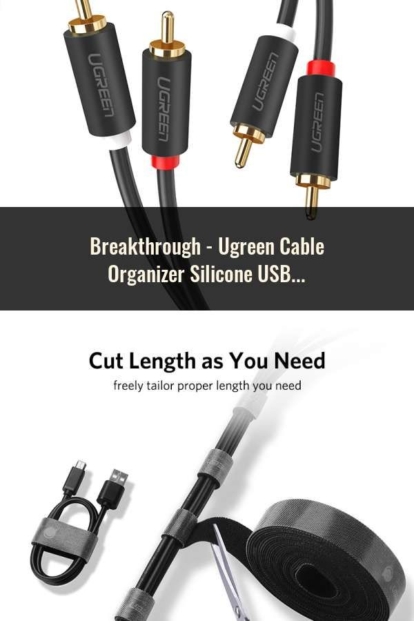 Ugreen Cable Organizer Silicone USB Cable Winder Flexible Cable Management
