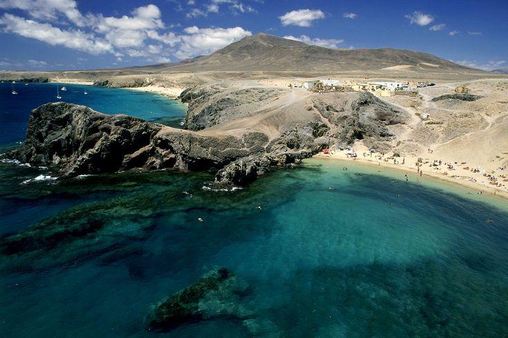 Espectacular lengua de tierra en el mar de Puerto Del Carmen