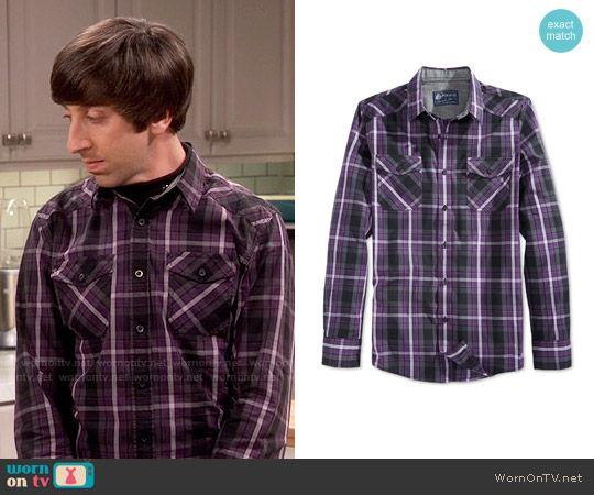Howard's purple plaid shirt on The Big Bang Theory.  Outfit Details: https://wornontv.net/68894/ #TheBigBangTheory