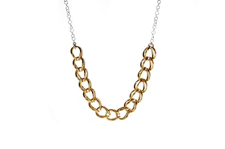 Links series necklace / gold plated