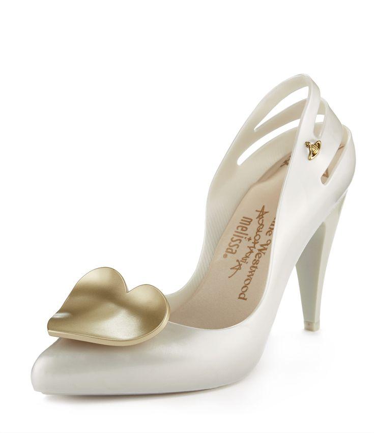 Vivienne Westwood White Heart Heels