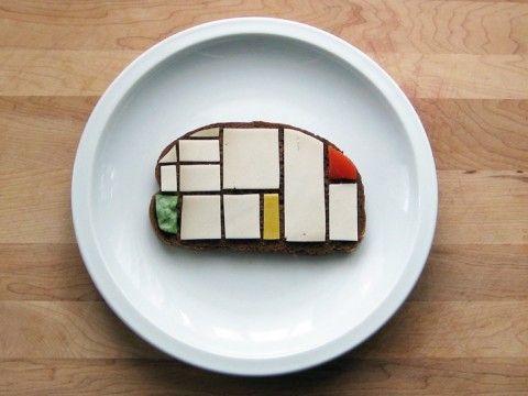 Mondrian Sandwich: Sandwiches Artists, Modern Art, Mondrian Sandwiches, Brittany Powell, Piet Mondrian, Edible Art, Food Art, Foodart, Design