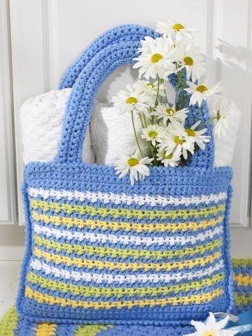 Shopping Tote Bag   Yarn   Free Knitting Patterns   Crochet Patterns   Yarnspirations