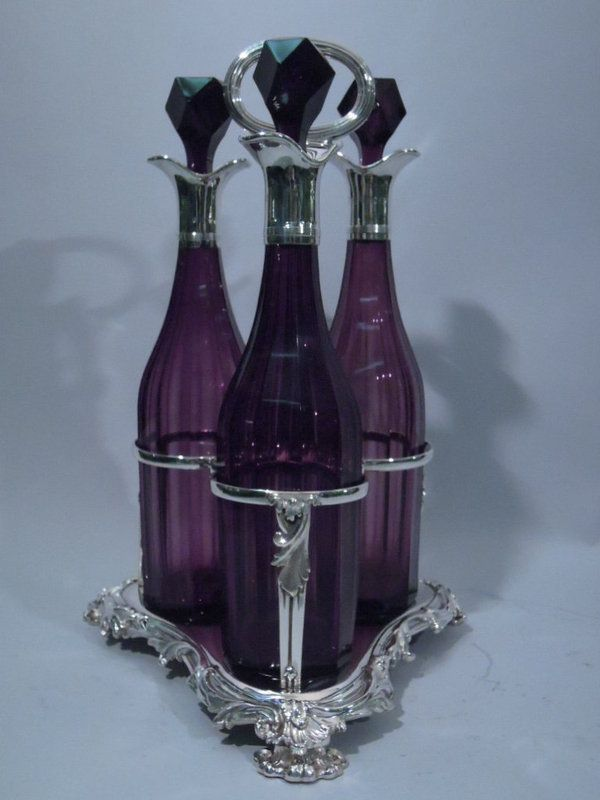 Early Victorian Whiskey Decanter Set 1841