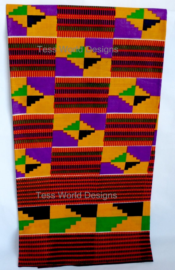 African Fabric / Original Ghana Kente Print / by ...