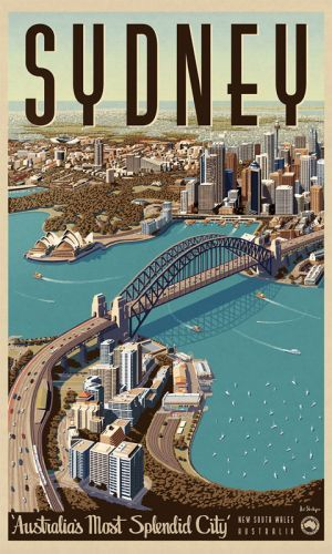 Sydney, Splendid City - Vintage Travel Poster by James Northfield.