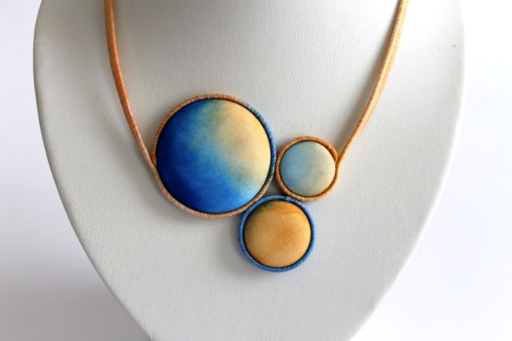 Hand dyed silk jewelry by Koria Design  https://www.etsy.com/listing/179051415/hand-painted-silk-statement-necklace?ref=related-3 www.facebook.com/koriadesign