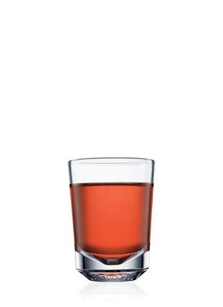 ABSOLUT Vanilia Volcano (2 Parts ABSOLUT VANILIA  1 Part Strawberry Syrup  1 Part Hazelnut Liqueur)