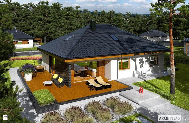 Projekt domu Astrid (mała) II G2 - zdjęcie od Pracownia Projektowa ARCHIPELAG - Taras - Styl Minimalistyczny - Pracownia Projektowa ARCHIPELAG
