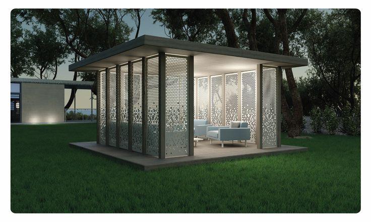 Modern garden pavilion by lumbrin com