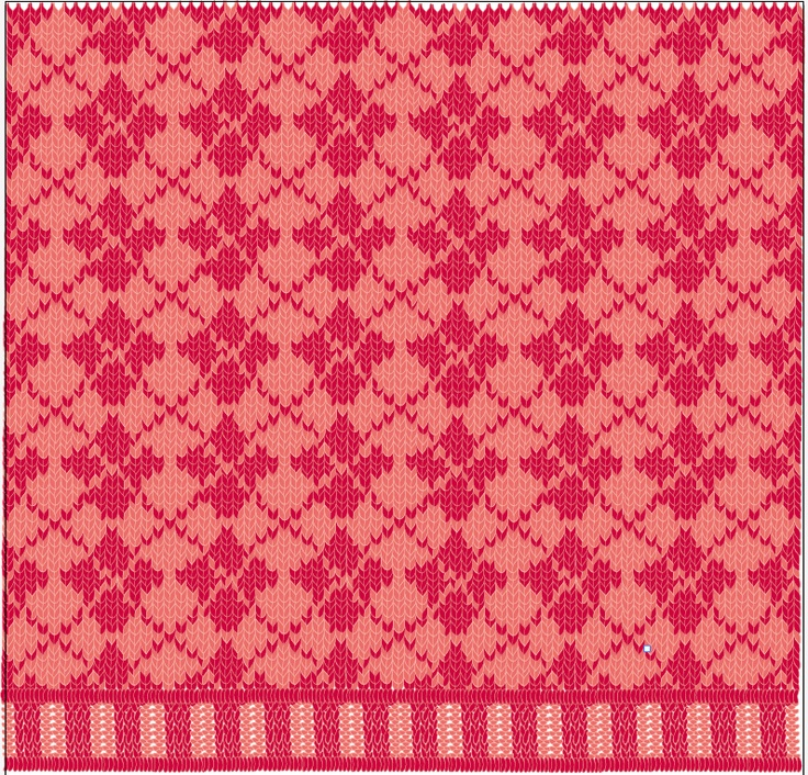 red argyle pattern, by me.
