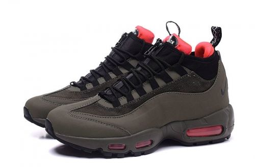 big sale c02cd 87627 Newest Nike Air Max 95 Hyp PRM 20 Anniversary Mid Army Green Olive Sport  Red Nike