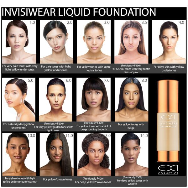 EX1 Cosmetics Invisiwear Liquid Foundation 30ml (Various Shades): Image 11