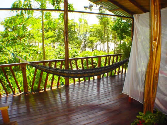 Stay in the Jungle Hut cabin, relax and catch the afternoon breeze