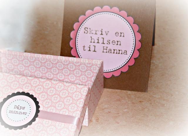 All you need is LOVE: Hanna`s dåp del 2 - Borddekking og pynt.