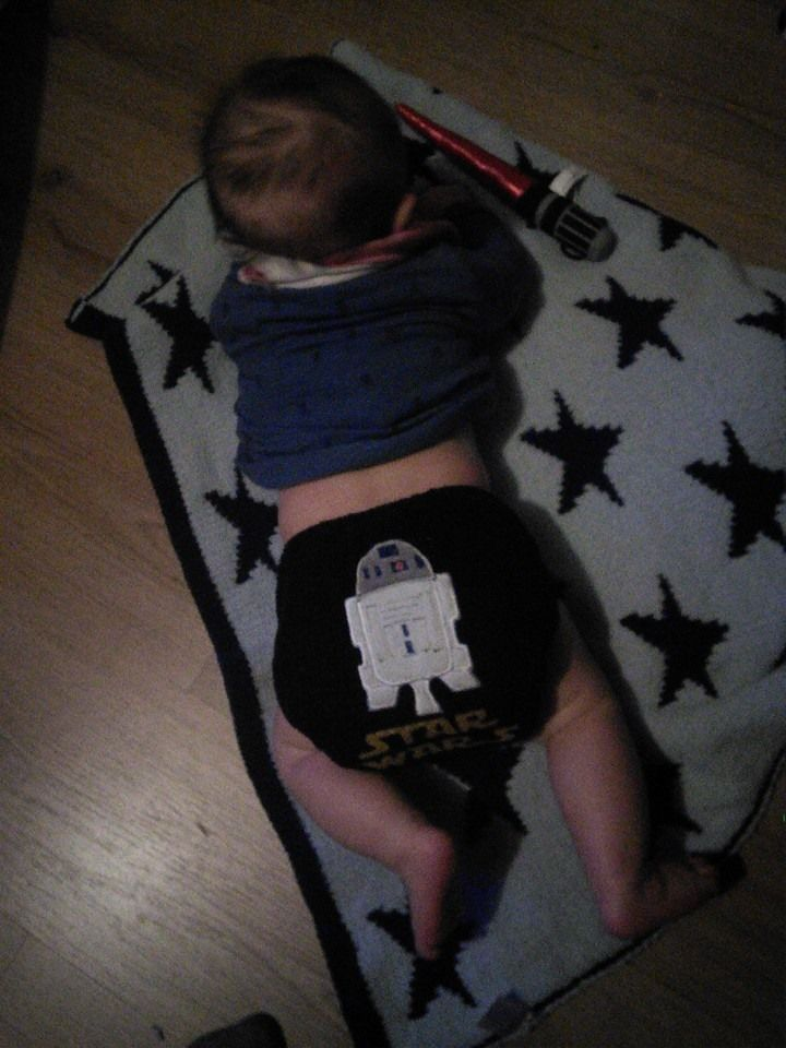 Hannah Horsewell #mynappystash this is our new pocket R2D2 nappy and we love it!