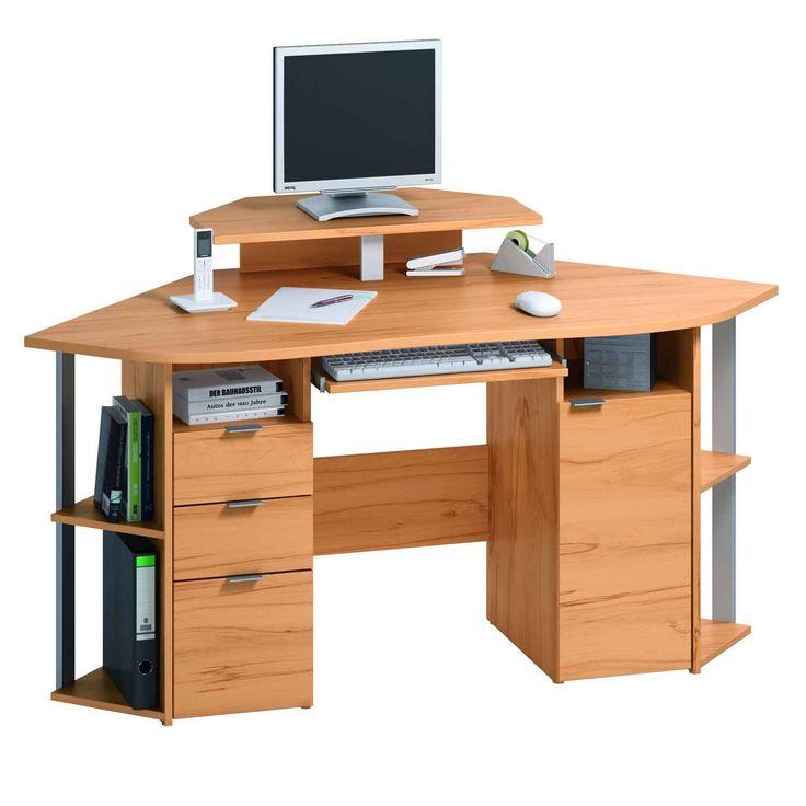 Corner Computer Workstation Desk - Space Saving Desk Ideas Check more at  http://