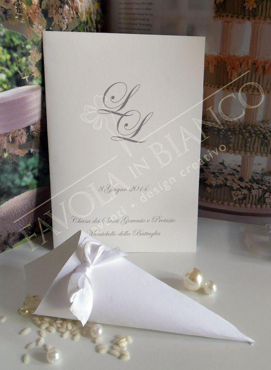 Booklet religious rite for marriage and cone with rise. Libretto messa per il tuo matrimonio e conetto portariso