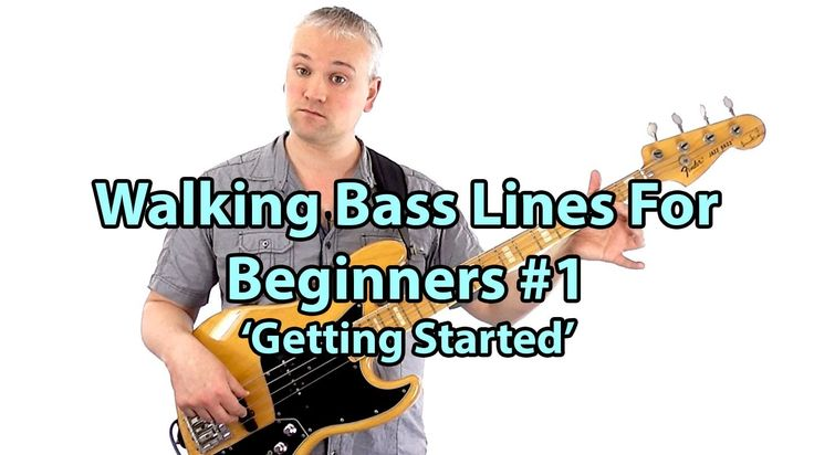 How To Play Walking Bass Lines - Bass Lessons Online (L#51)