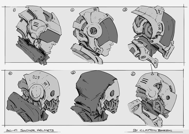 The Art of Clayton Barton | Sci-Fi Soldier Helmets.jpg