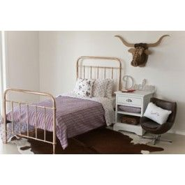 gorgeous rose gold metal bed frame available to buy from everythingbeginscom also available