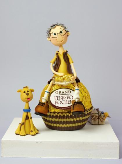 Création de Figurine réalisée en porcelaine froide - Ferrero Rocher