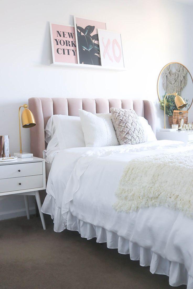 neutral blush gold bedroom ideas for room marble bedroom rh pinterest com