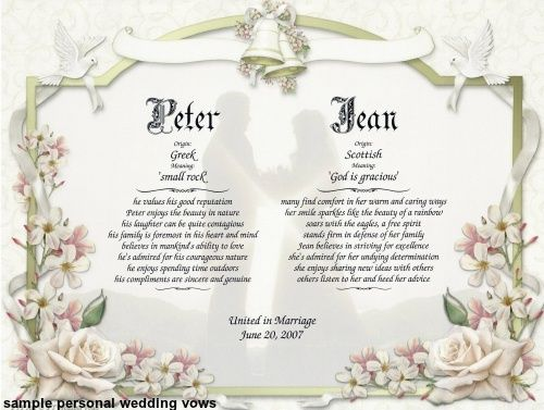 25+ Best Ideas About Personal Wedding Vows On Pinterest