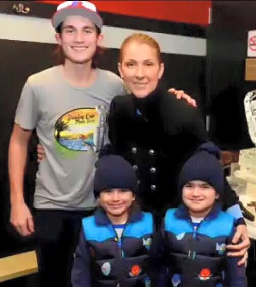 Céline Dion with her sons