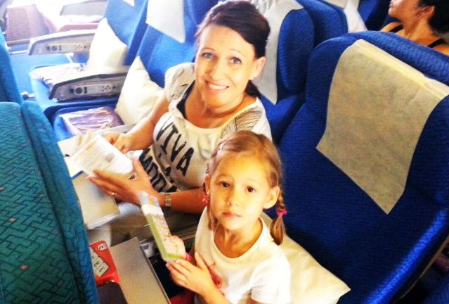 5: Dave Hally took this picture of his wife and daughter together on board MH17.
