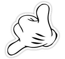 Funny Surf fingers - Shaka hand Sticker