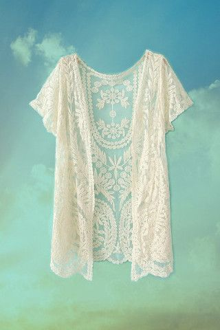 The Ivory Tower Lace Shrug – cream vintage boho crochet cardigan festival style - The Aurora Company - www.theauroraco.com
