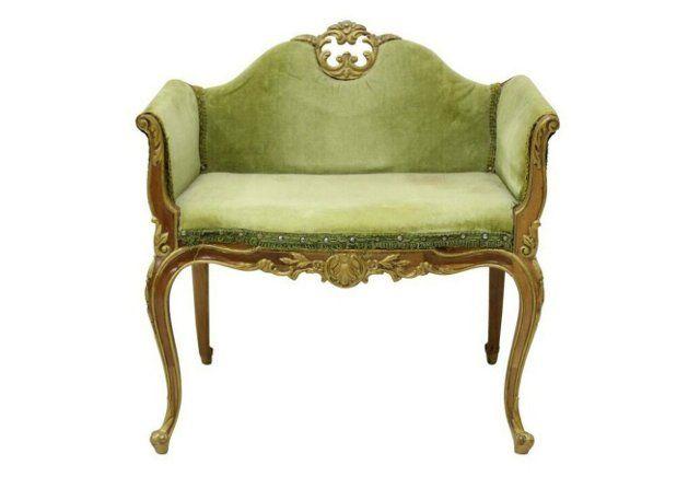 Louis XV-Style Boudoir Bench