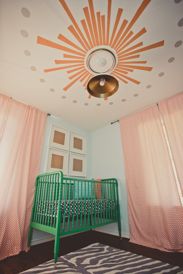 Crib for sale kelowna - Stunning Nursery With Custom Painted Jenny Lind Crib In Green Linde Browning Design