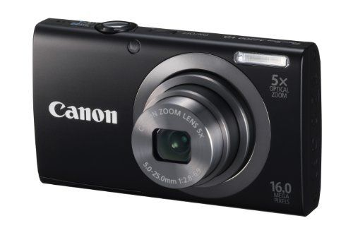 Canon PowerShot A2300 IS 16.0 MP Digital Camera with 5x Digital Image Stabilized Zoom 28mm Wide-Angle Lens with 720p HD Video Recording (Black) by Canon, http://www.amazon.com/dp/B0075SUHQC/ref=cm_sw_r_pi_dp_lbrwrb08EP5H1