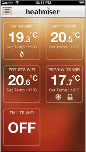 Heatmiser neo app