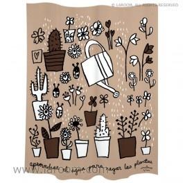 """Laroom - Cortina baño  """"regar"""" marrón polyester - Laroom diseña los productos para Baño más bonitos del mundo - www.laroom.com"""