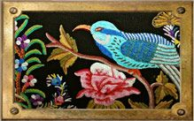 Embroidered detail from Guatamalan border