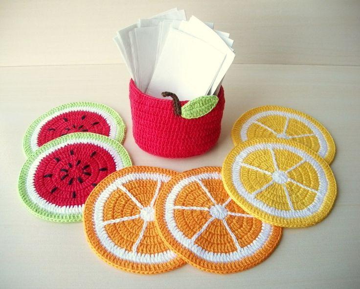 Porta copos frutas c/porta guardanapos