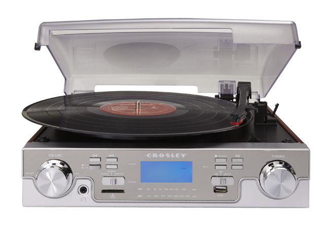 Crosley Tech Turntable in Mahogany w extra bells & whistles $149.99