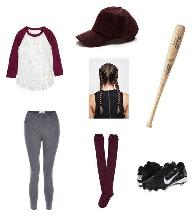 """Baseball player costume"" by justindean on Polyvore featuring New Look, NIKE and Aéropostale"