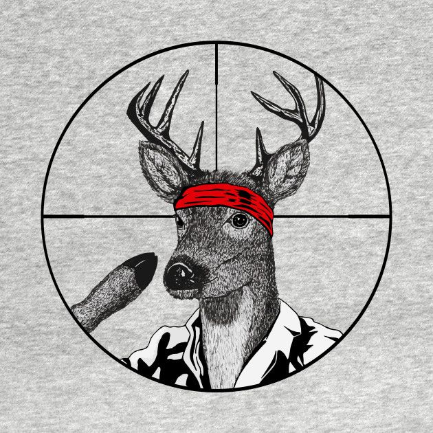 Check out this awesome 'Deer+Hunter' design on @TeePublic!