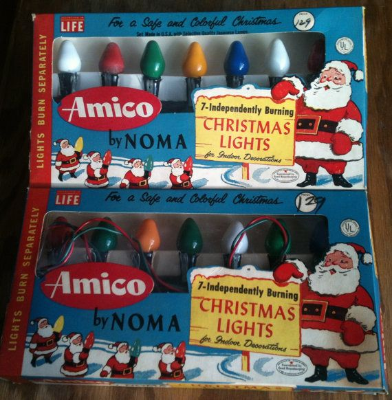 Noma Christmas lights vintage 2 boxes Amico by GoatCart on Etsy